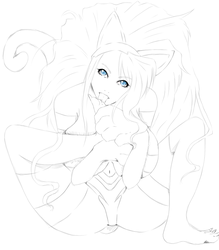 Lineart Felicia by Line-arts