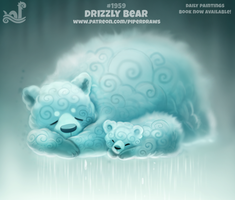Daily Paint 1959# Drizzly Bear by Cryptid-Creations