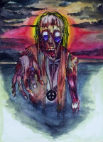 Zombie Hippie - Colored by Harlequin-Ink