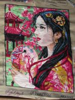 Asian Princess tapestry canvas by Santian69