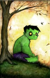 Sad Hulk by UMINGA