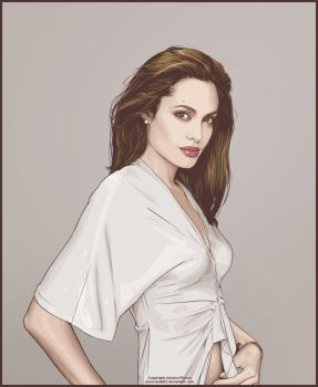 More Angelina Jolie by verucasalt82