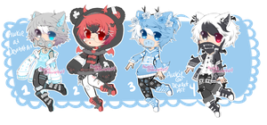 Male Adopt Batch 06 Set Price Closed by Awkie