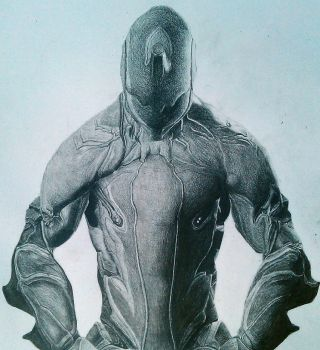 warframe drawing :excalibur by charlie733