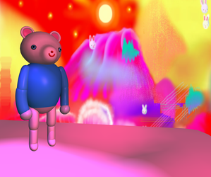 3d bear by strangenotes