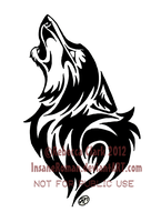 Howling Wolf Tribal by InsaneRoman