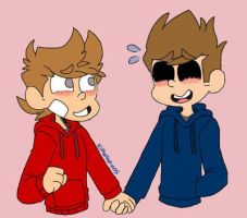 {TomTord}: Holding hands by KitKatKatie05