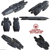 Colonial Jupiter class Battlestar by Chiletrek