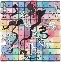 Nothing Fits Snakes and Ladders Board by Le-RenardRoux