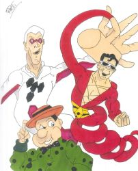 Plastic Man, Offspring and Woozy Winks. (request) by Vaughn787