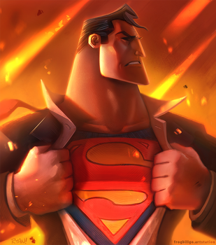 Superman by frogbillgo