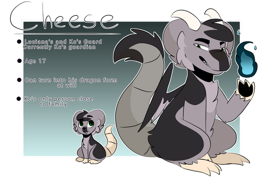 Cheese Redesign + Ref Sheet by Kittencloudy4u