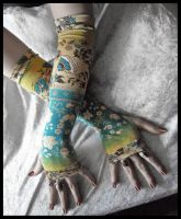 Mediterranean Arm Warmers by ZenAndCoffee