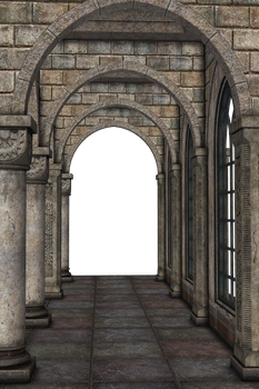 UNRESTRICTED - Archways Hall Scene I by frozenstocks