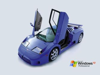 Bugatti Windows XP Wallpaper by outerfroggy1