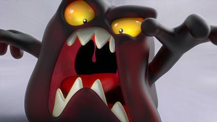 Zbrush Doodle: Day 1062 - Cranberry Slime by UnexpectedToy