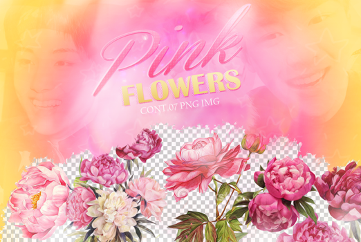 Recursos/ Flowers png/Pink by Upwishcolorssx