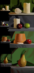 Ctrl+Paint Still Life Exercises 2 by ailaghast