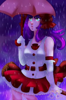 Witch in the Rain + Speedpaint by MikomiKisomi