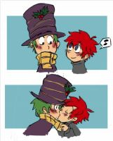 PnF: A kiss under the hat by numbah3
