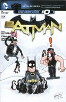 Batman blank Variant Cover Batman Vs Penguins by johnnyism
