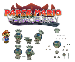 Sauf T (Paper Mario Wonder Journey) by DerekminyA