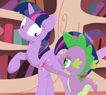 Spike...are you touching my...? (remastered) by Porygon2z