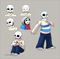 Revenantale Sans doodles by GhostLiger
