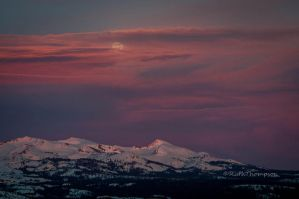 Pink Moment moon rise by kayaksailor