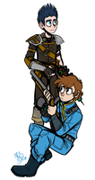 Fallout Dipper and Norman by spookydoom