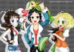 Pokemon Black and White: Friends and Rivals by Monicherrie