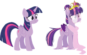 Twilight Sparkle - Redesign by RosePinkArts