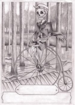 How skeletons tricycle by GhostvillePirate