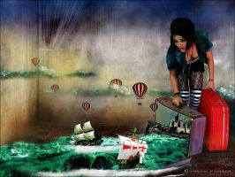 Suitcase full of dreams by ArtisanCreativeArts