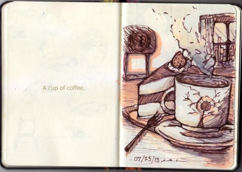 A Cup Of Coffee. by Flauwoo