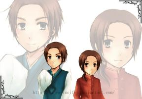 ::APH:: Korea and China by Linea-Lucifer