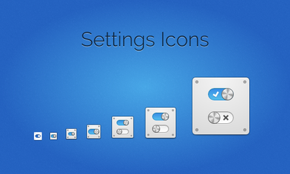 Settings Icons by BassUltra