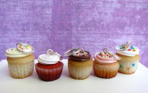 Polymer Clay Cupcake Charms by LittleSweetDreams