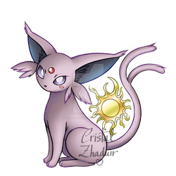 Espeon by Cristal-Zhaduir