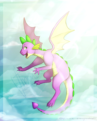 Spike's New Wings by crazycoolcats