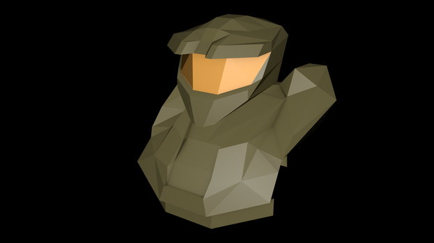 Master Chief rev. 1 (Low Poly) by MadLittleMods