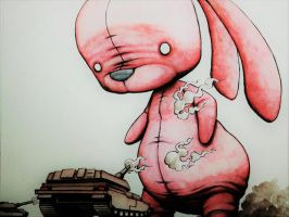 Pink Bunny Rampage by ChainsawTeddybear