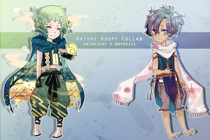 Nature Collab Adoptables AUCTION OPEN by xminxicat