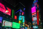 night signs in NYC by Rikitza