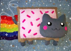 JUMBO Nyan Cat Plushie by OnegaiSweet