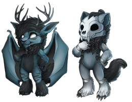 Furvilla painties: Synkka and Jorg by Vaelkyrie