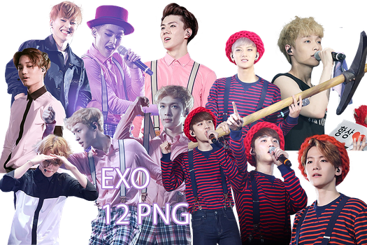 EXO PNG Pack {EXO'luXion Part.3} by kamjong-kai
