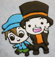 Professor Layton Icing by KralleCakes