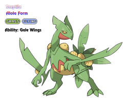 Sceptile - Alola Form by locomotive111