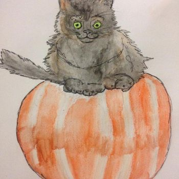 Pumpkin Kitty by Itchywitchygirl
